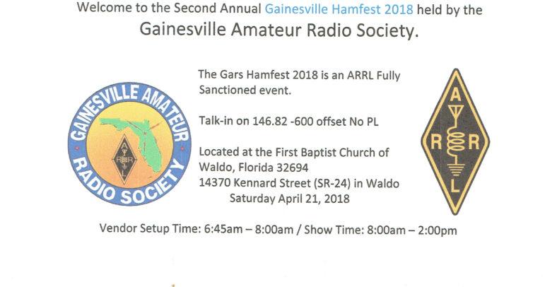 WALDO Hamfest coming soon – April 21st | St  Augustine