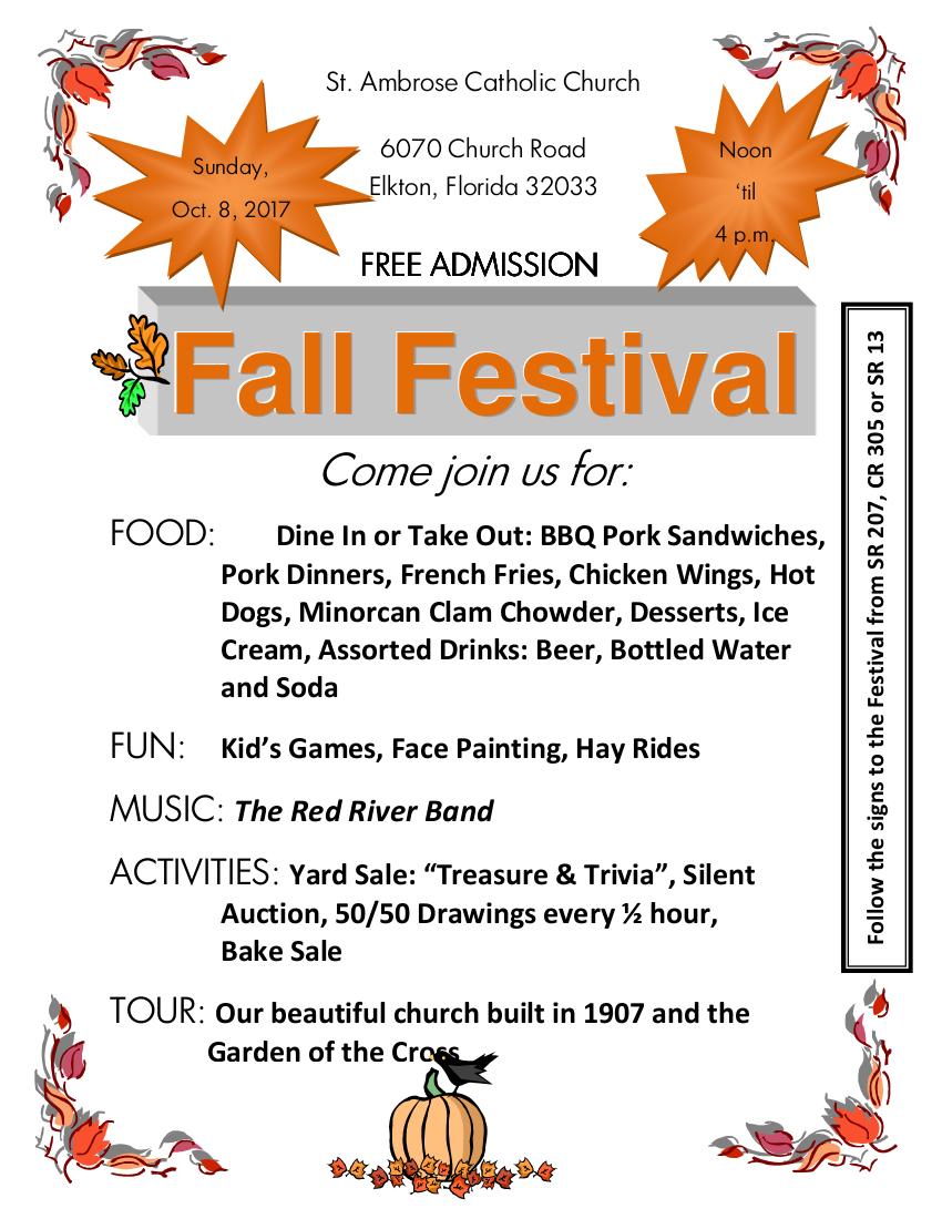 St. Ambrose 2017 Fall Festival